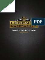 2014-2015 Legends Community Resource Guide