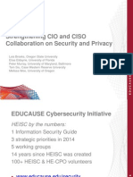 Strengthening CIO and CISO Collaboration on Security and Privacy (240980693)