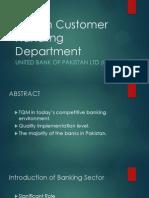 TQM in Customer Handling Department