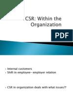 CSR in  org