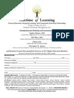 2014 Lifetime of Learning Registration