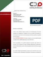 Presentación de Servicios Empresa Control de Obra