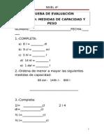 Unidad 9 Medidas de Capacidad y Masa