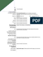 Application Form and CV - Inglaterra
