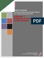 Ponencia 7 Regimen de Prevencion y Control Ambiental