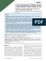 2014 - Steinhardt - POne - Quality of Malaria Case Management in Malawi