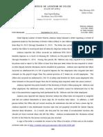 Deputy Auditor Report to Sen Mathis on Jim Gibbons