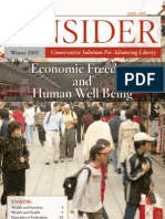 The Insider-Economic Freedom and Human Well Being