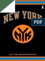 2010 11 Knicks Media Guide