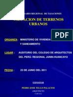 Valuacion de Terrenos Urbanos