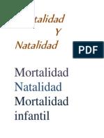 Mortalidad y Natalidad