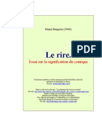 Bergson Le Rire