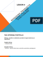 Lesson 4 Managing Products, Npsd, Plc and Positioning
