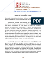 RELATÓRIO DE AVLIAÇÃO FINAL
