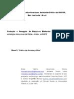 Produção e Recepção de Discursos Eleitorais - Uma Análise Das Estratégias