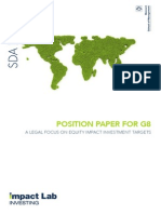POSITION PAPER FOR G8 A legAl focus on equity impAct investment tArgets
