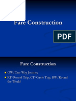 Fare Construction