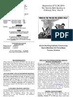 Bulletin 27-28 September 2014