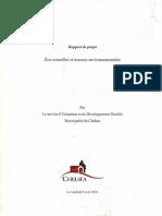 Rapport sur le règlement MRC-137-09