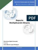 Reporte Multiplicacion Binaria