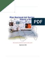 Plan Nacional Del Sector Hierro y Acero