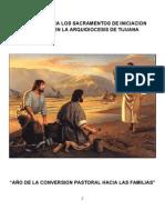 Criterios Para Los Sacramentos de Iniciacion Cristiana en La Arquidiocesis de Tijuana