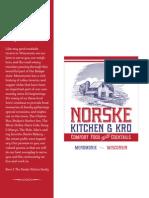 Norske Kitchen Lunch & Dinner Menu