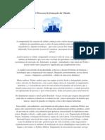 O Processo de Formação Da Cidade - Estudos Sociais e Economicos