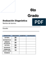 6to Grado - Diagnóstico