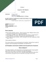 George Lakoff Syllabus LING 106 Fall 2014