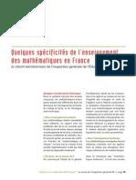 3373 Quelques Specifite de Lenseignement Des Maths en France