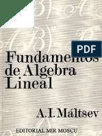 Fundamentos de Algebra Lineal - Maltsev