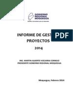 Informe de Gestión de Proyectos 2014 - GRM
