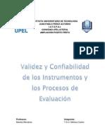 Informe Validez y Confiabilidad Upel-iutepal