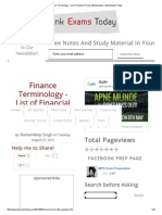 Finance Terminology - List of Financial Terms With Examples _ Bank Exams Today