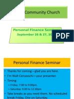 Bethel Personal Finance Sept 26-27