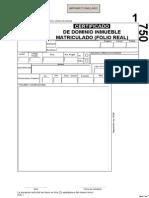 Certificado de Dominio Inmueble Matriculado (Folio Real)