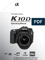 Pentax K10D Operating Manual