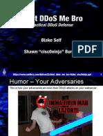DEFCON 22 Blake Self Cisc0ninja Dont DDOS Me Bro UPDATED
