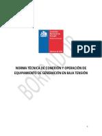 Borrador CNE Norma Técnica Netbilling