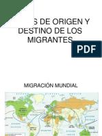 Países de Origen y Destino de Los Migrante (Hugo)