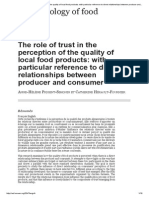 The Role of Trust in the Perception of the Quality of Local Food Products_ With Particular Reference to Direct Relationships Between Producer and Consumer