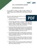 B.5 Plan de Incentivos y Sanciones