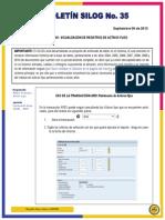 Boletín 35 DATA ARCHIVING - AM Visualización de Registros de Activos Fijos