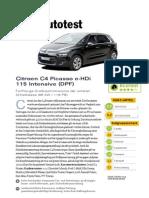 Citroen C4 Picasso e HDi 115 Intensive DPF