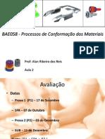 Bae058 - Processo de Conformacão Dos Materiais - Aula 2