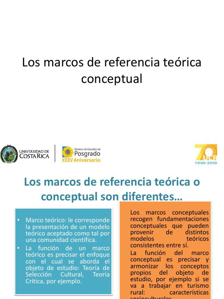 Marco de Referencia Teorica o Conceptual Son Diferentes