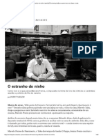 O Estranho Do Ninho _ Piauí_67 [Revista Piauí] Marcelo Freixo