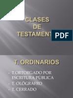 Clases de Testamento