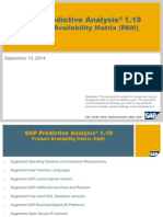 SAP Predictive Analysis 1.19 - PAM
